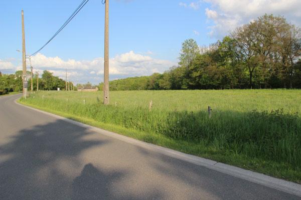 Le terrain concerné par le projet de lotissement