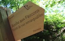 La Roche aux Faucons - Signalisation mise en place par la commune d'Esneux - Photo: M.Defour ©