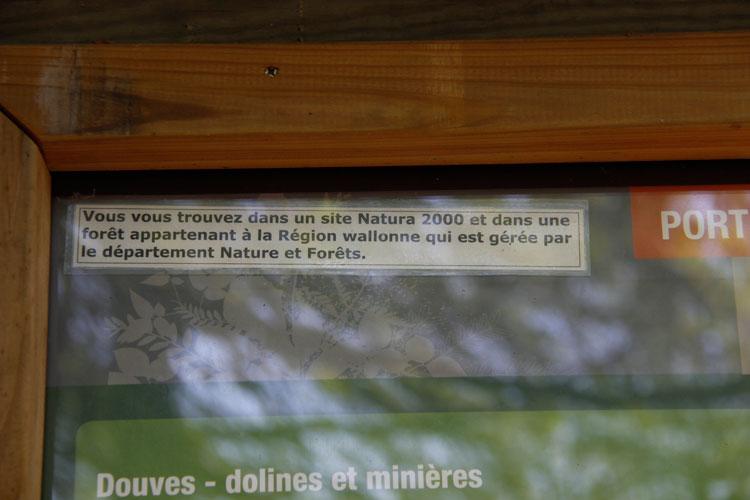 La Roche aux Faucons - Vous êtes  dans un site NATURA 2000 - Photo: M.Defour ©
